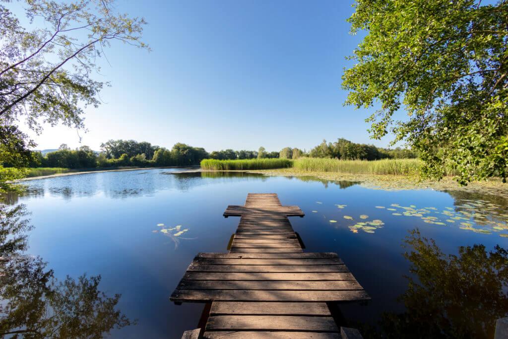 Photographie d'illustration d'un paysage au bord d'un lac