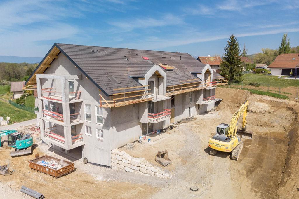 Photographie d'une construction pour un suivi de chantier